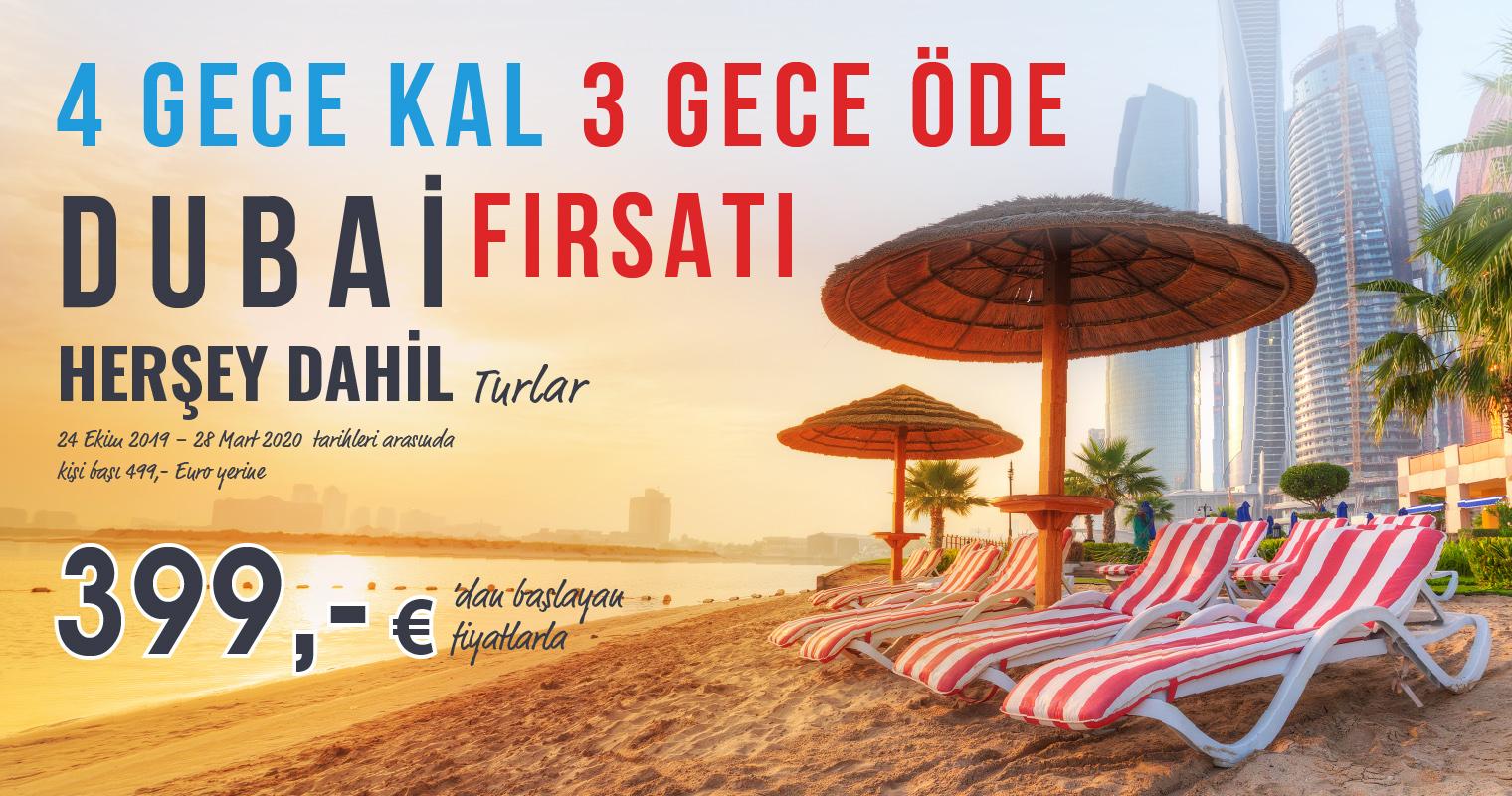 Dubai HERŞEY Dahil Turlarında Fırsat! 4 GECE KAL 3 GECE ÖDE!