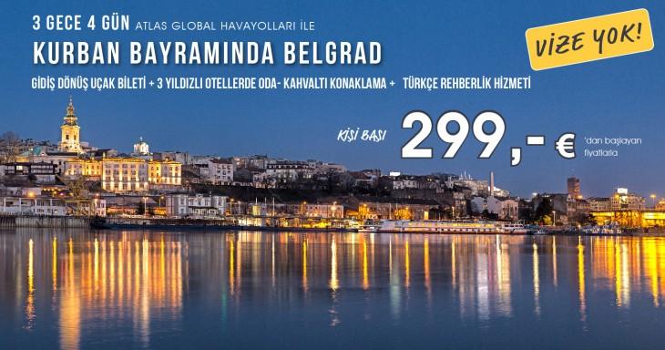 Kurban Bayramında Belgrad 3 Gece 4 Gün 299 Euro'dan Başlayan Fiyatlarla