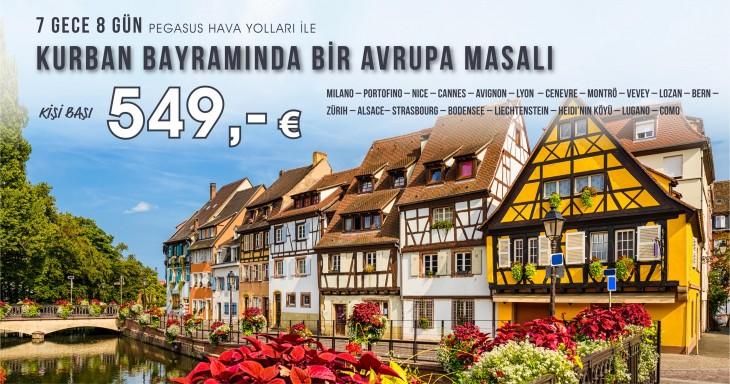Kurban Bayramında Bir Avrupa Masalı Turu 549 Euro!