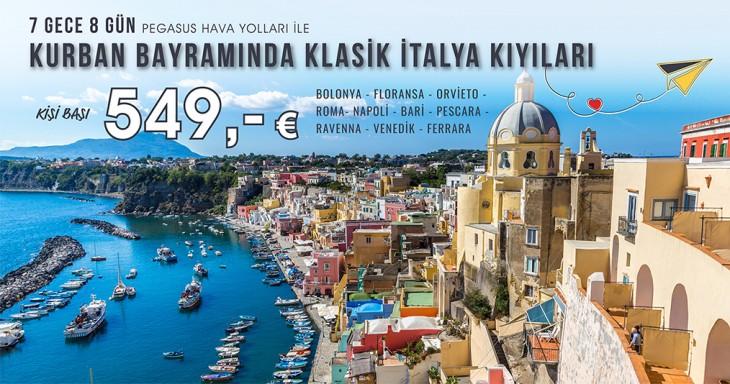 Kurban Bayramında Klasik İtalya Kıyıları Turu 549 Euro! Tükenmeden Alın!